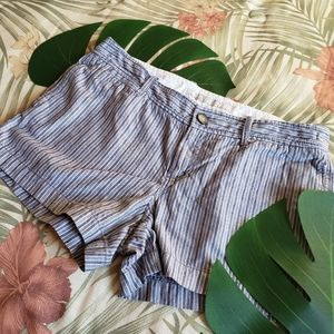 3/$25 Old Navy Low Rise Shorts Striped Blue 8